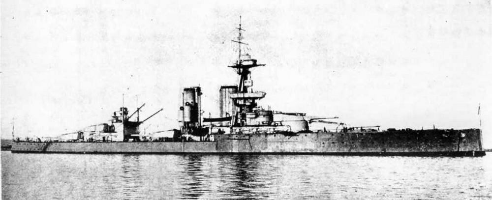 """Линейный корабль """"Кинг Джордж V"""" в 1918 гг."""