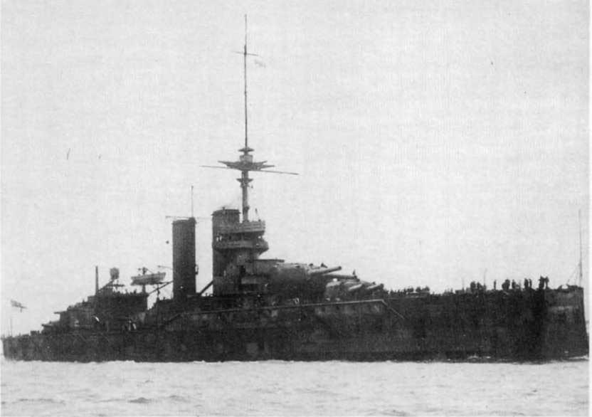 """Линейный корабль """"Аякс"""" в 1913-14 гг."""