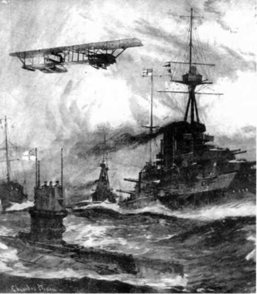 Флот Англии на учениях. С рисунка того времени