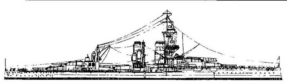 """Линейный корабль """"Кинг Джордж V<sup>я</sup>. 1918 г. (Наружный вид)"""