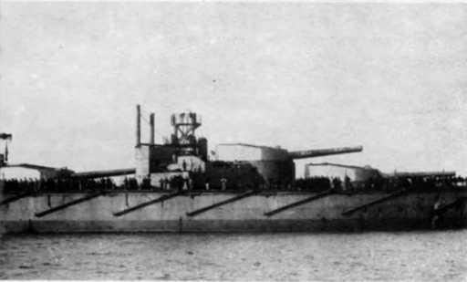 """Башенные установки 343-мм орудий на линкорах типа """"Орион"""""""