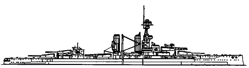"""Линейный корабль """"Эмперор оф Индия"""". 1918 г. (наружный вид)"""