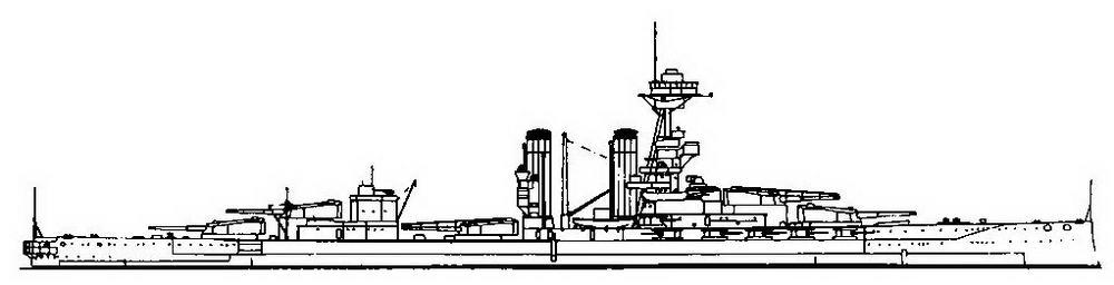 """Линейный корабль """"Айрон Дюк"""". 1918 г. (наружный вид)"""