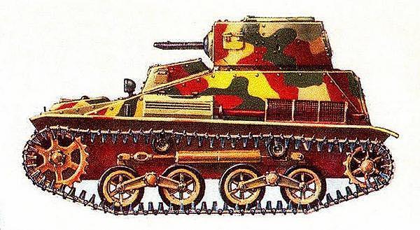 Малый танк «2594» («ТК»). 2-я отдельная лёгкая танковая рота, Китай, 1937 год.