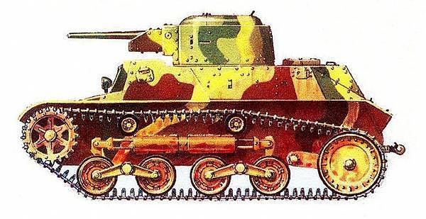 Малый танк «2597» («ТЕ-КЕ»). Бирма, март 1944 года.