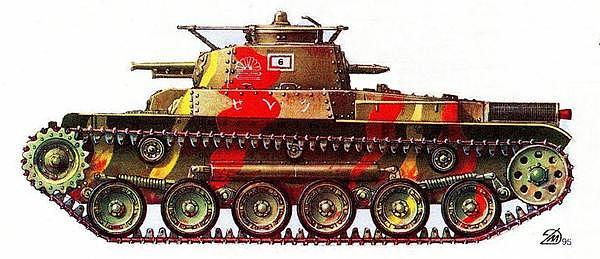 Средний танк «2597» («ЧИ-ХА»). 6-я рота 9-го танкового полка, Филиппины, о. Сайпан, июнь 1944 года.