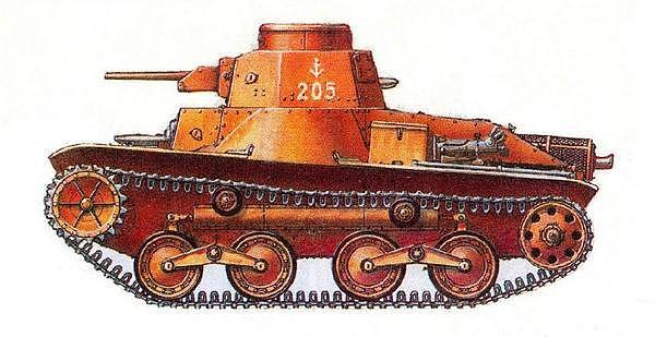 Лёгкий танк «2595» («ХА-ГО»). Вариант окраски машин специальных морских десантных отрядов.