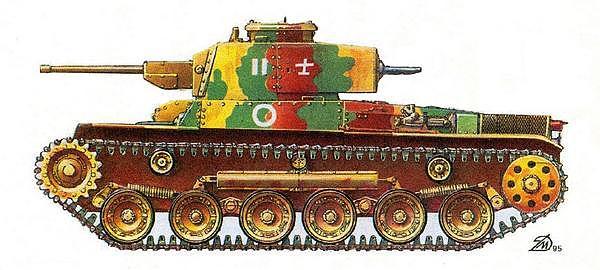 Средний танк «ШИНХОТО ЧИ-ХА». 11-й танковый полк, Курильские острова, 1945 год.