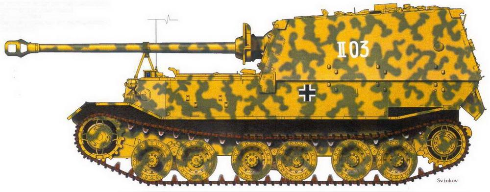 Штабная машина 654-го тяжелого батальона истребителей танков. Июль 1943 г.