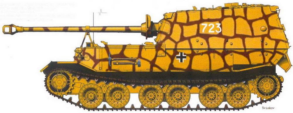 """""""Фердинанд"""" № 723, подбитый в районе ст. Поныри. Курская дуга, июль 1943 г."""
