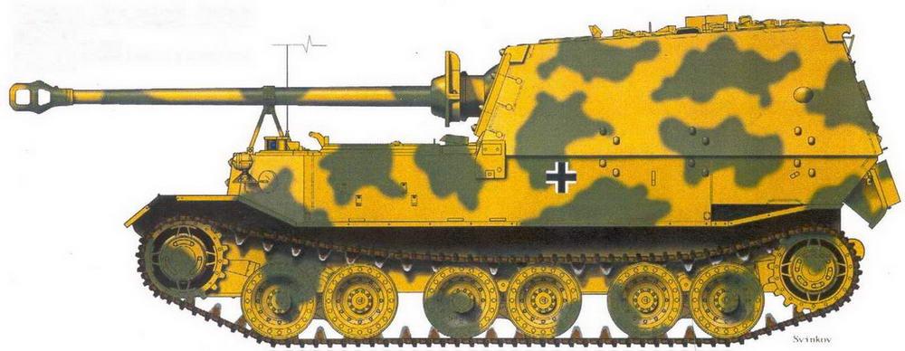 """Фердинанд"" 653-го тяжелого батальона истребителей танков. Никопольский плацдарм, осень 1943 г."