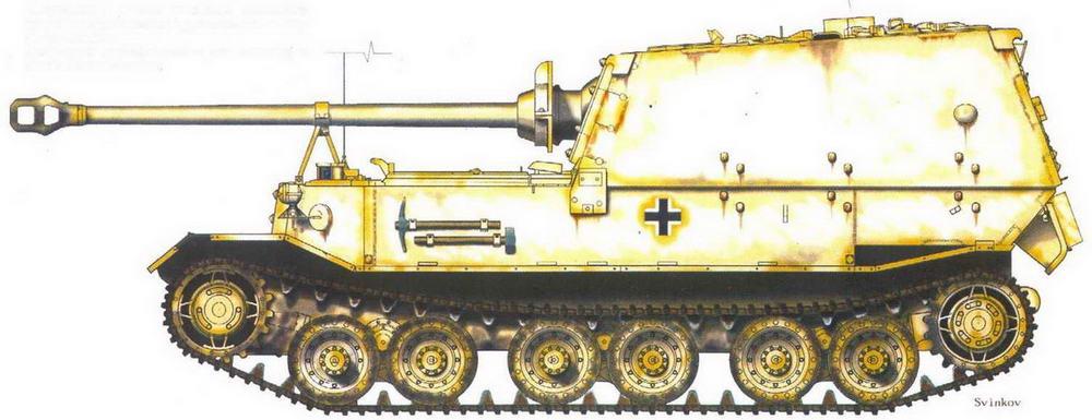 """""""Фердинанд"""" 653-го тяжелого батальона истребителей танков перед эвакуацией в Вену. Зима 1943-44 гг."""