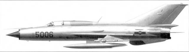 МиГ-21 ПФМ «5006» из 921-го истребительного авиационного полка «Сао Дао», февраль 1972г.