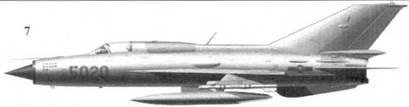 7.МиГ-21ПФМ «5020» Нгуена Тиена Сама из 927-го истребительного авиационного полка «Лам Сон», 5 июля 1972г.