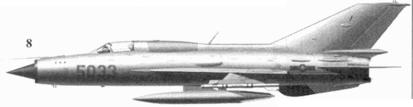 8.МиГ-21ПФМ «5033» Траня Виета из 921-го истребительного авиационного полка «Сао Дао», 2 7 декабря 1972г.