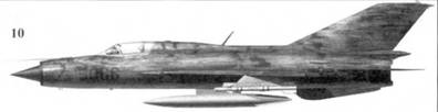 10.МиГ-2I ПФМ «6/22» из 927-го истребительного авиационного полка «Лам Сон», 1972г.