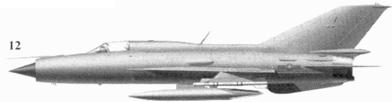 12.МиГ-21ПФМ без бортового номера из 921-го истребительного авиационного полка «Сао Дао». 1972г.