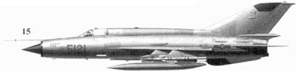 15.МиГ-21МФ «5121» Фам Туана из 921-го истребительного авиационного полка «Сао Дао», 27 декабря 1972г.