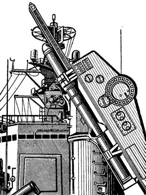 """Рис. 26. Универсальная пусковая установка для запуска ЗУР """"Терьер"""" и ПЛУРО """"Асрок"""""""
