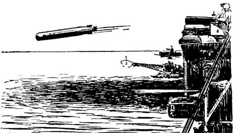 Рис. 33 Стрельба торпедой Мк. 46 с надводного корабля