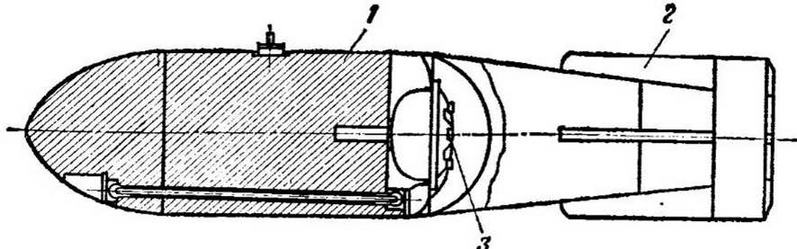 Рис. 8. Схема немецкой авиационной беспарашютной донной неконтактной мины: