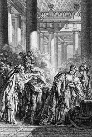 Свадьба Родогуны и Антиоха. Гравюра XVIII в.