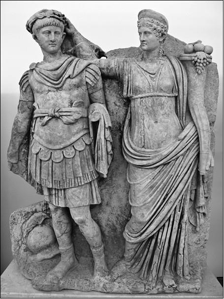 Агриппина со своим сыном Нероном. 54–59 гг.