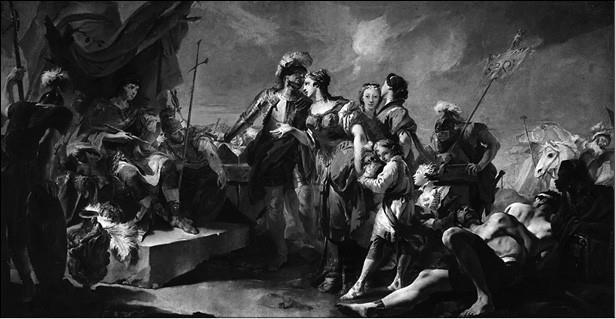 Зенобия перед императором Аврелианом. Художник Дж. Б. Тьеполо. 1717 г.