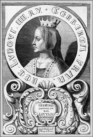 Герберга Саксонская. Гравюра XVI в.