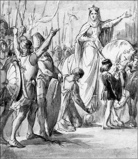 Матильда Тосканская. Рисунок XIX в.