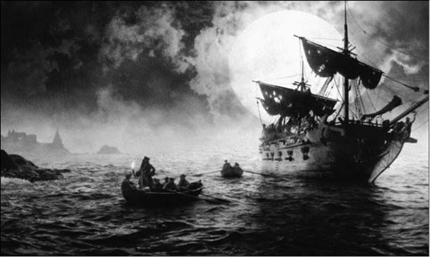 Нападение пиратов на парусный корабль