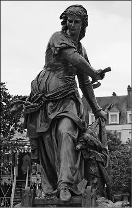 Жанна Ашетт-Бовэ. Скульптор Г.В. Дюбре. 1851 г.