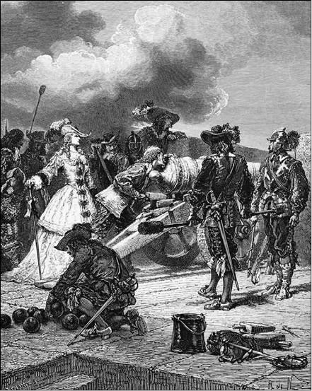 Герцогиня де Монпансье. Гравюра XIX в.
