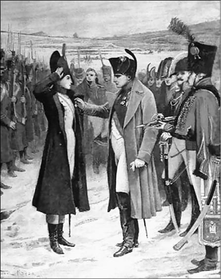 Наполеон Бонапарт вручает медаль Мари Шеллинк. Рисунок 1896 г.
