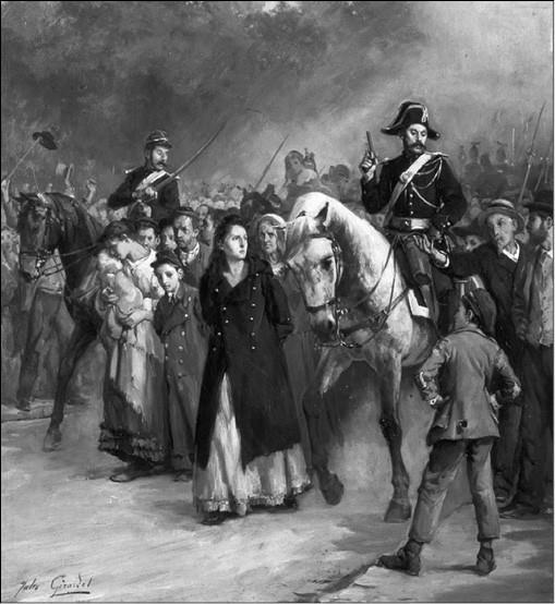 Арест Луизы Мишель. Художник Ж. Жирарде. 1871 г.