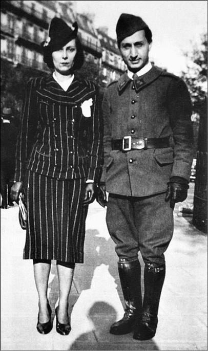 Ариадна Скрябина и Довид Кнут. Фото 1940-х гг.
