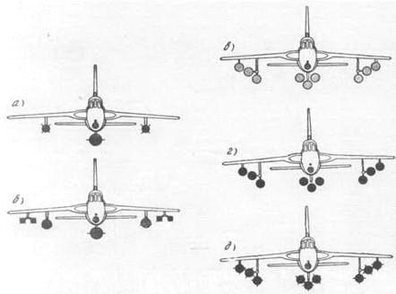 Варианты загрузки самолета F-105D-25RE