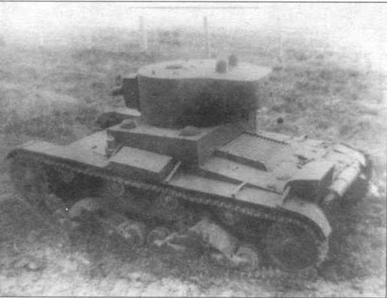 Телетанк ХТ-130. На крыше башни хороша видны два антенных ввода. НИБТПолигон, 1940г.