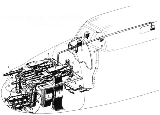 Установка двух пушек МК 108 (Rustsatz 3)
