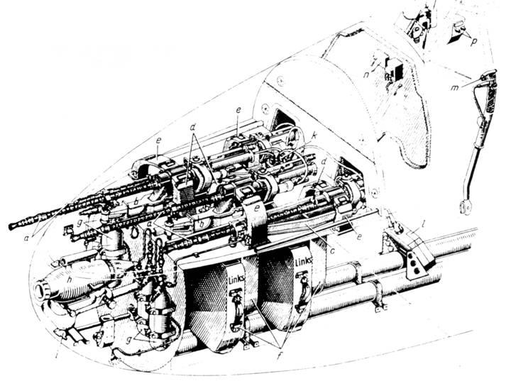 Отсек вооружения Bf 110