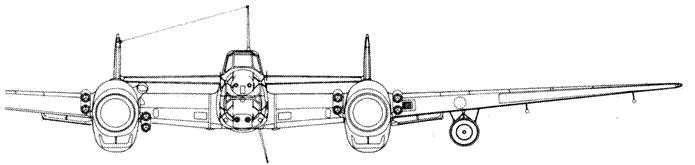 Messerschmitt Bf 110 G-4 с радаром Lichtenstein ВС (FuG 202)