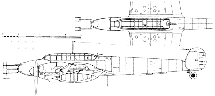 Messerschmitt Bf 110 G-4 с радаром Lichtenstein C1 (FuG 212) и Rosendaal-Halbe (FuG 221)