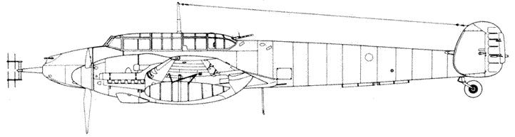 Messerschmitt Bf 110 G-4 с радаром Lichtenstein C1 (FuG 212)