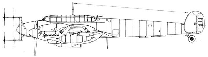 Messerschmitt Bf 110 G-4 с радаром Lichtenstein SN2b (FuG 220)