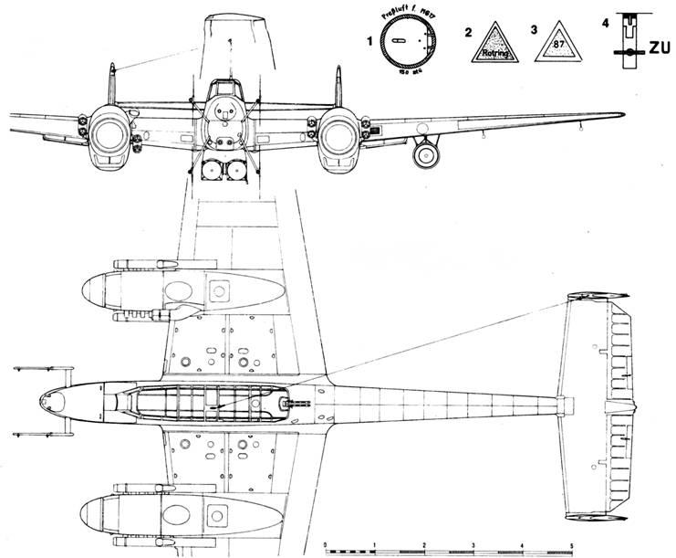 Messerschmitt Bf 110 G-4 с радаром Lichtenstein SN2c (FuG 220)