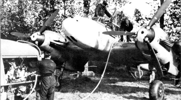 Первыми сбили британский самолет над Британией 9 июля 1940 г. пилоты из I/I/ZG-26, когда смешанная группа Bf 110 и Bf.109 прикрывала группу бомбардировщиков Не-111 и Ju-88, атаковавших конвой в устье Темзы. В свою очередь, «Харрикейны» завалили один 110-й. На капотах двигателей DB-6011S нарисована буква «N».
