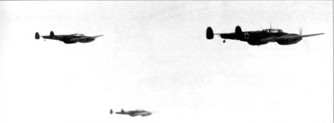 Полет церстореров через Канал, впереди жаркая встреча со «Спитфайрами» и «Харрикейнами».