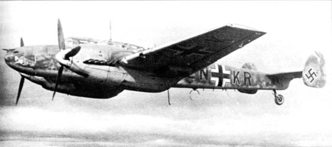 «LN+KR» из 7.(Z)/JG-5 в полете над Финляндией, Восточный фронт.