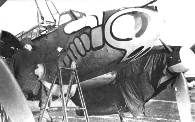 В 1942 г. II/SKG-2I0 стала II/ZG-I и была переведена в Италию. Круг замкнулся. Изначально 1-й стаффель ZG- 1 послужил ядром для формирования II/SKG-210 , но оса всегда оставалась эмблемой подразделения.