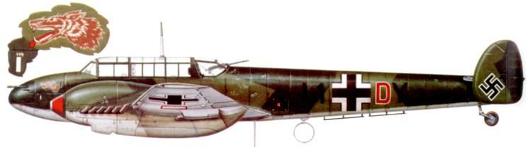Bf. 110С-1 из I(Z)/LG-1, польская кампания.